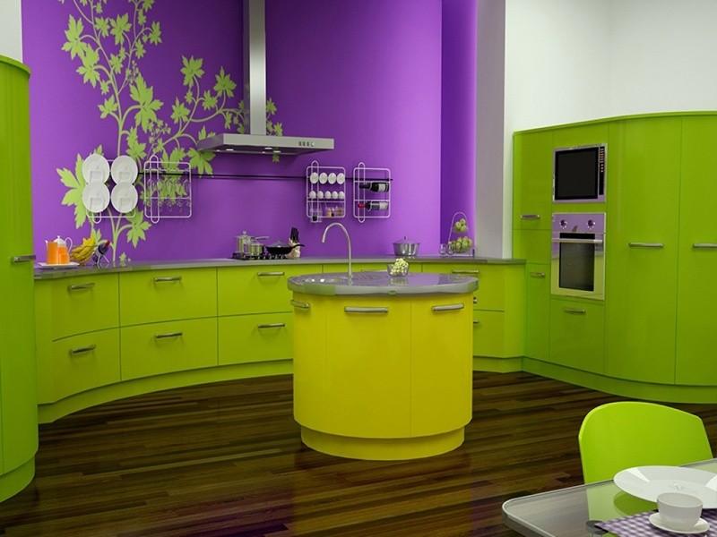 Сочетание цветов интерьер кухни триада два ярких и нейтральный