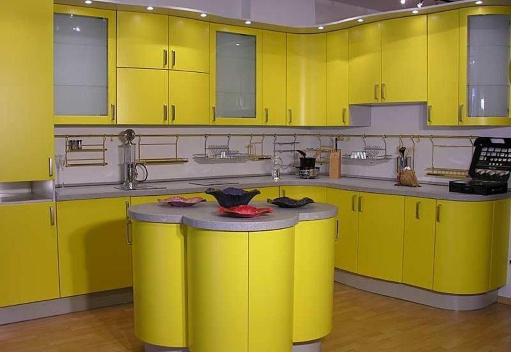 Сочетание цветов интерьер кухни желтый с белым