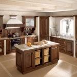 Современная кухня островной дизайн в стиле прованс