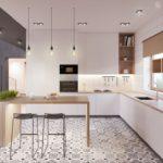 Современная кухня пол в стиле пэчворк