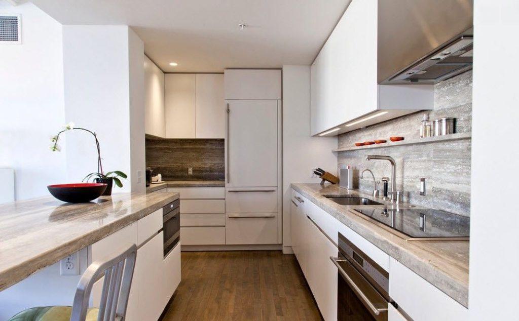 Современная кухня узкое пространство