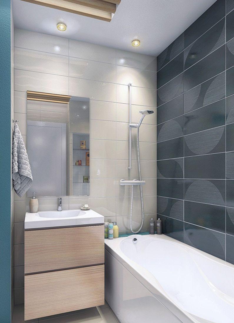 идеи дизайна ванной 3 кв м