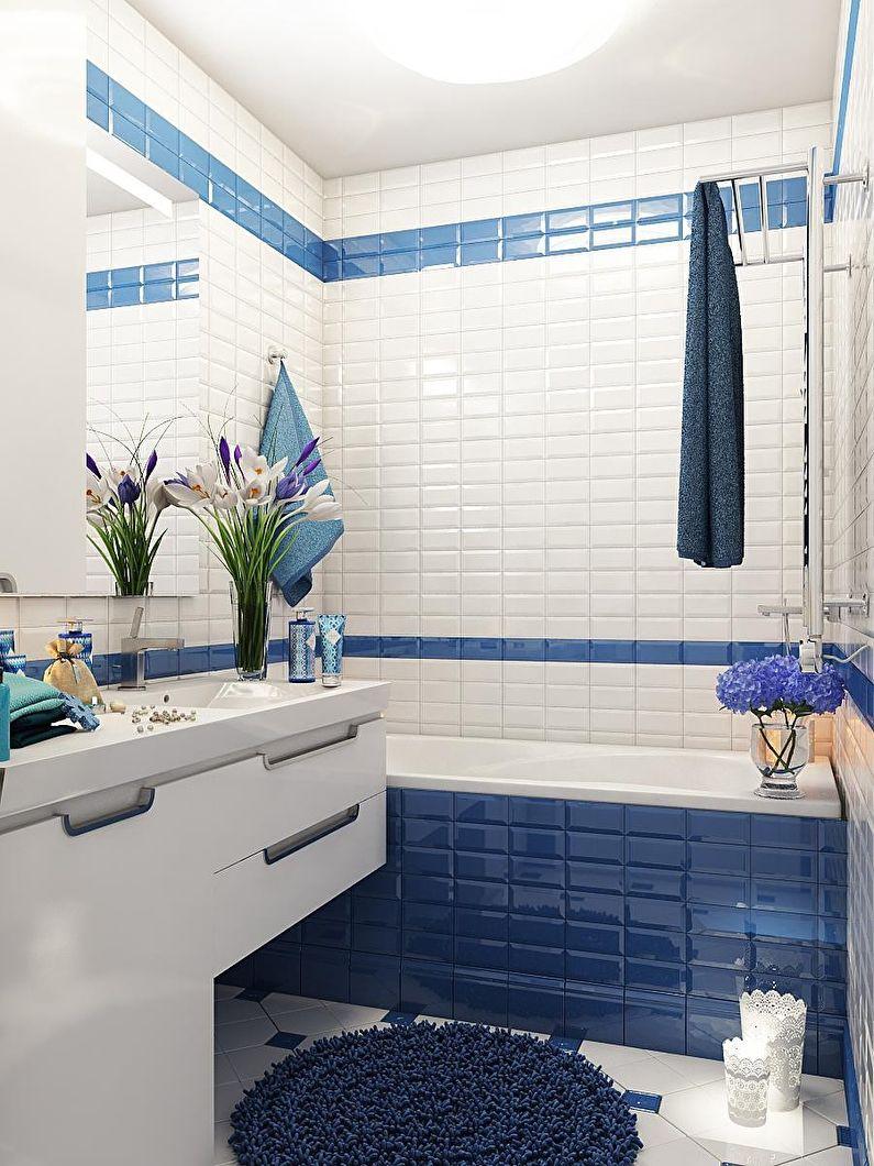 отделка стен в ванной 3 м2