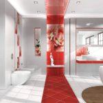 ванная комната с окном оригинальный дизайн