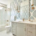 дизайн ванной совмещенной с туалетом интерьер