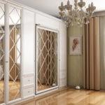 дизайн гостиной спальни с зеркалом