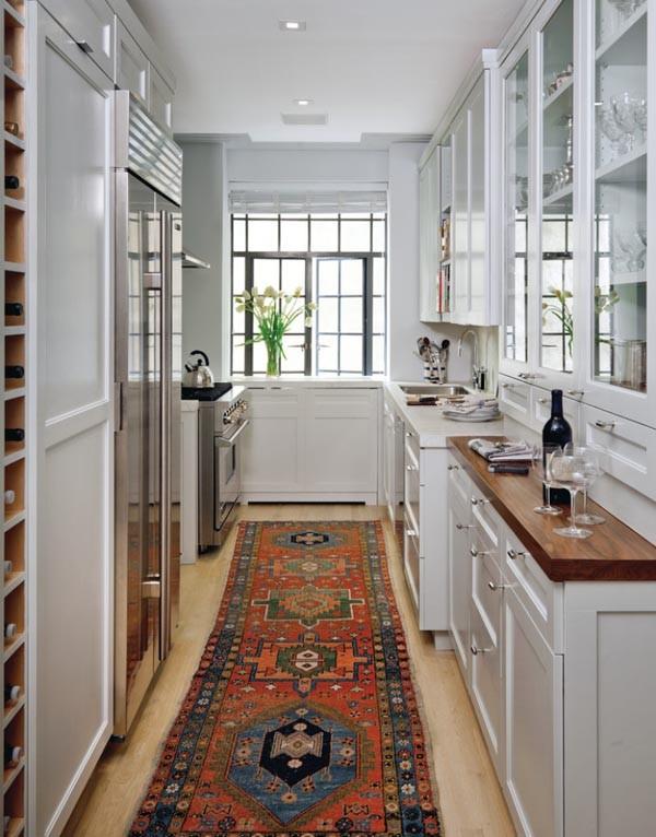 дизайн узкой кухни идеи