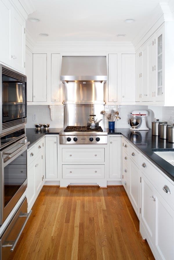 дизайн узкой кухни интерьер