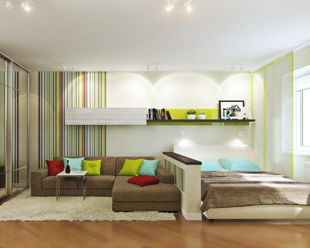 гостиная спальня в хрущевке