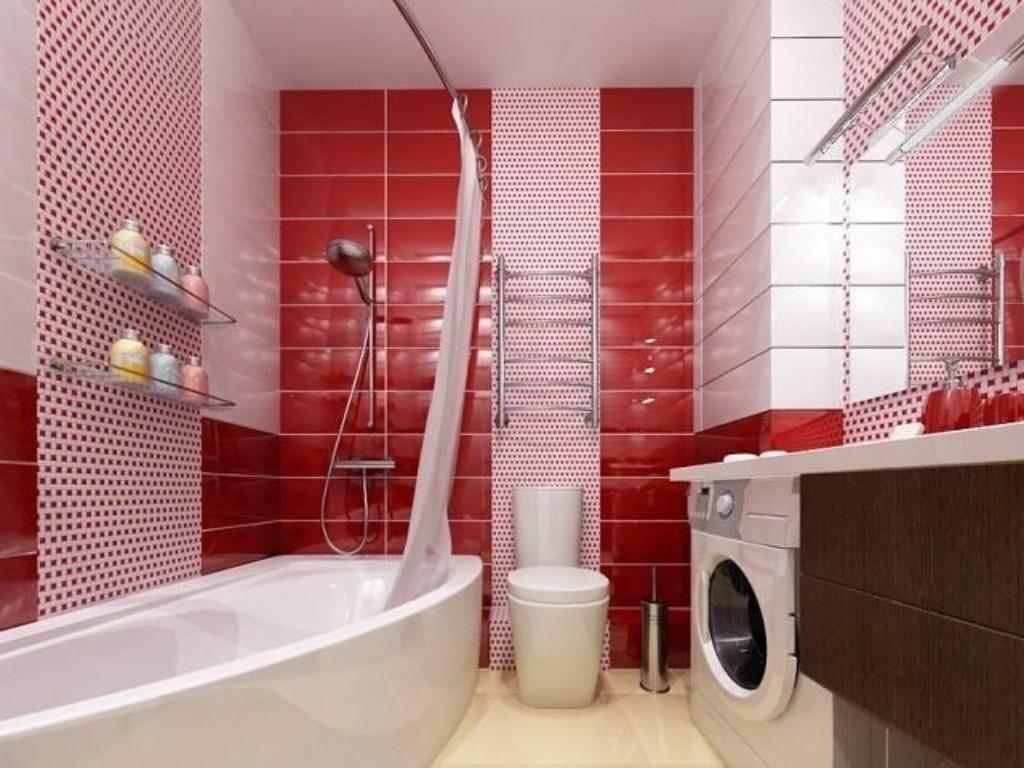 плитка для ванной красная