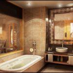 Антикварая мебель для ванной в бежевых тонах