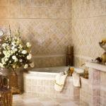 Бежевая классика лдя ванной комнаты