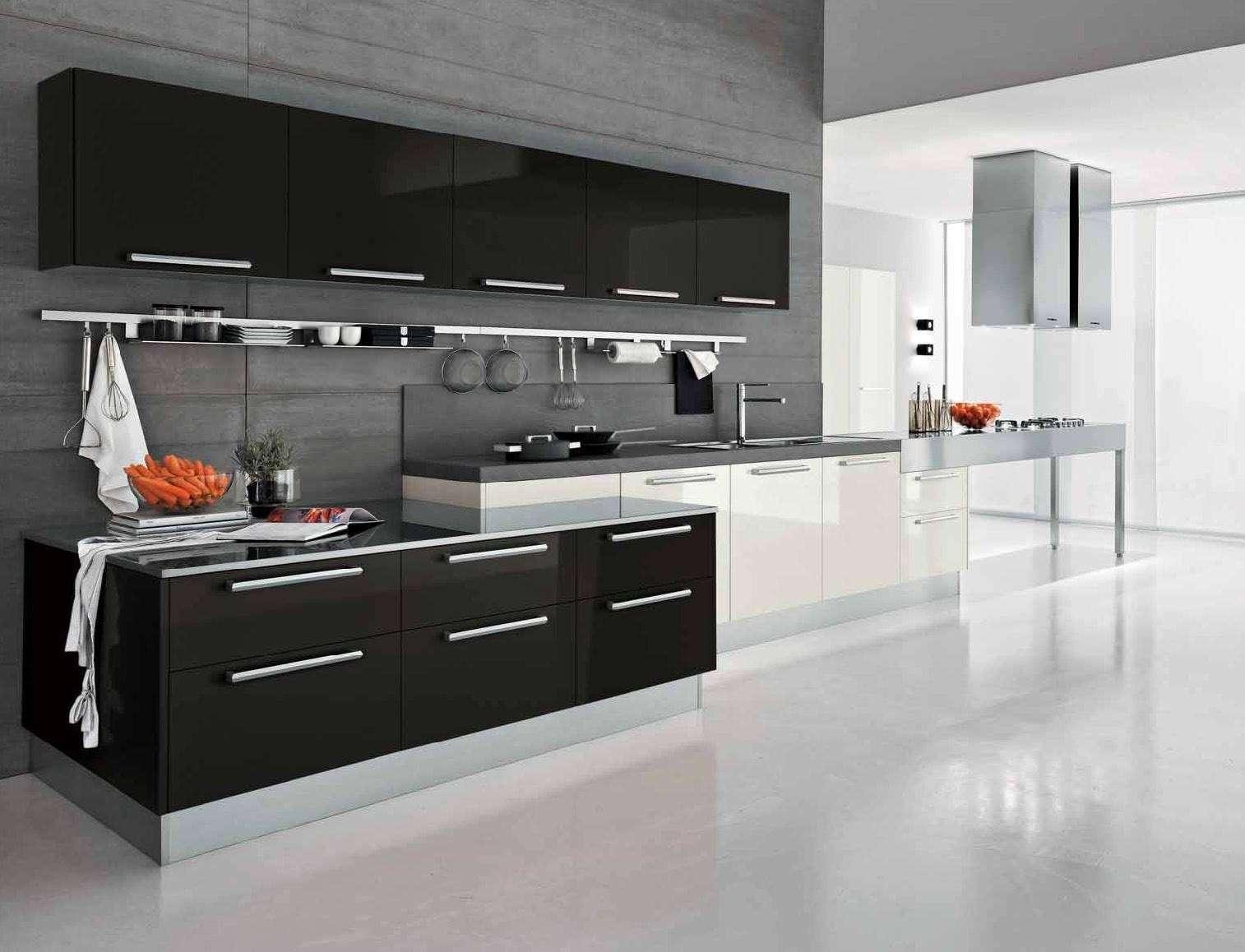 черно белая кухня