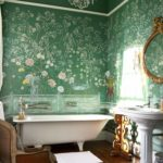 Декор ванной комнаты роспись цветочными мотивами