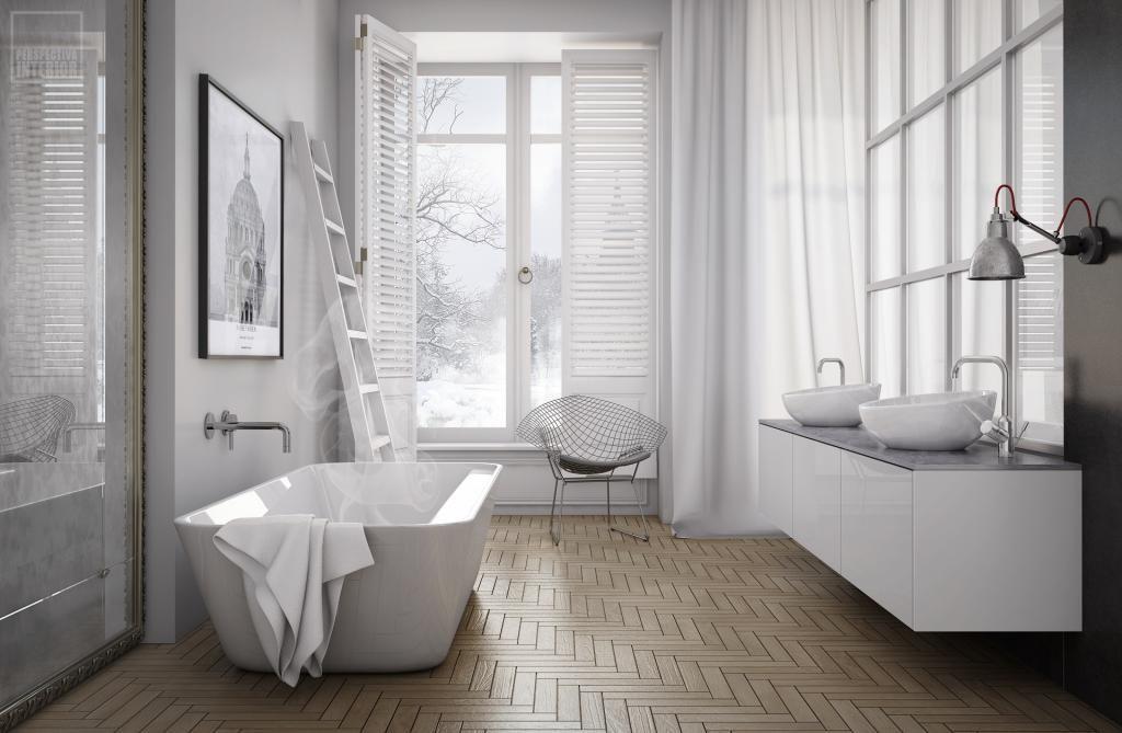 Декор ванной комнаты скандинавский стиль не любит деталей