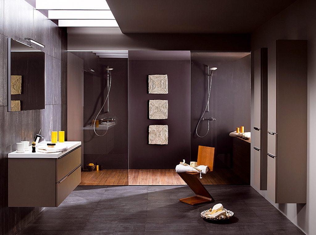 Декор ванной комнаты стиль хай-тек