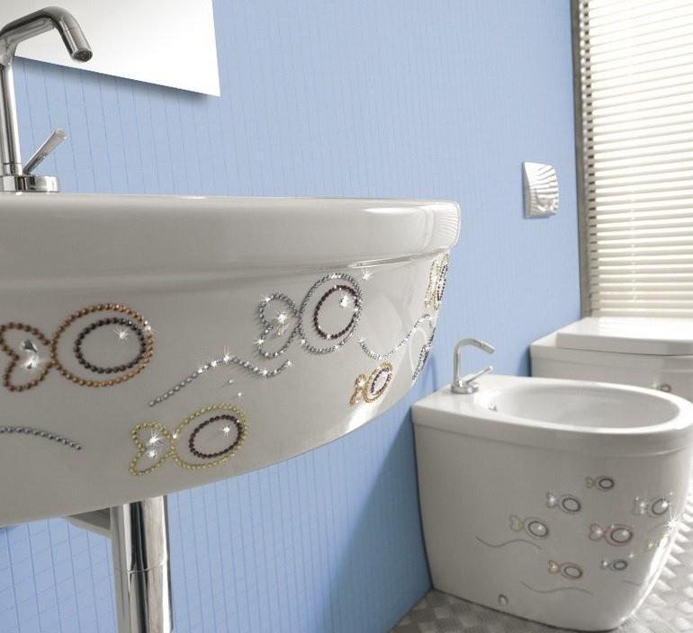 Декор ванной комнаты стиль хай-тек своими руками