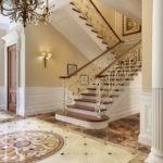 дизайн холла в частном доме идеи интерьера