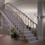 дизайн холла в частном доме варианты идеи