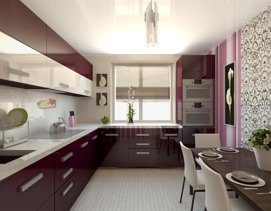 Дизайн кухни в частном доме г-образная планировка