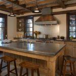Дизайн кухни в частном доме интерьер в стиле кантри
