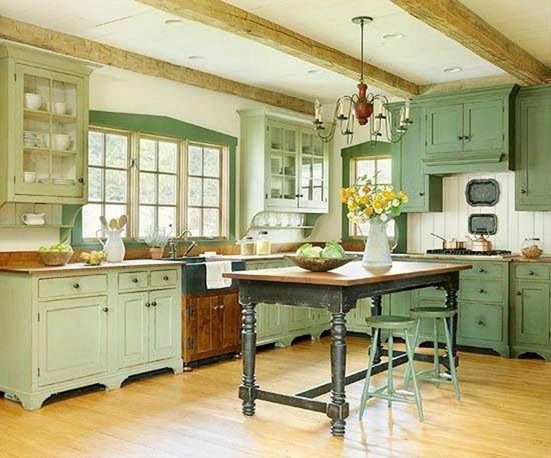 Дизайн кухни в частном доме кантри