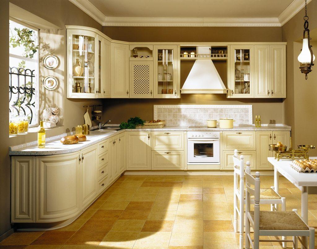 Дизайн кухни в частном доме классический стиль стены