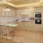 Дизайн кухни в частном доме модерн с угловой планировкой
