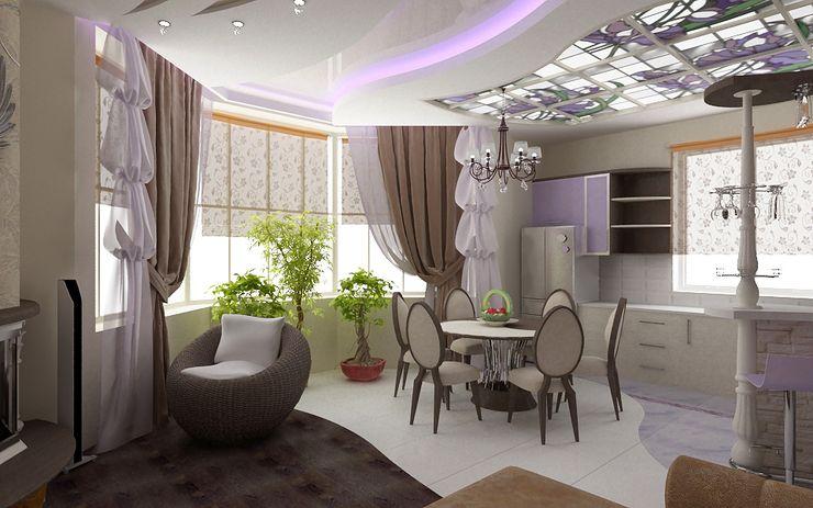 Дизайн кухни в частном доме модерн