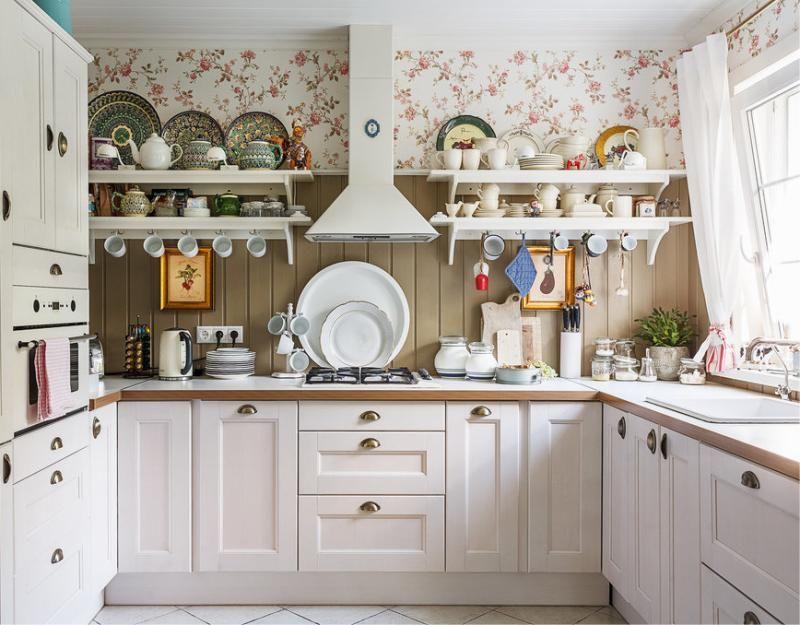 Дизайн кухни в частном доме П-образная планировка
