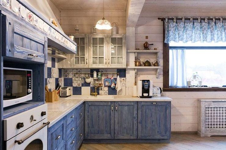 Дизайн кухни в частном доме прованс