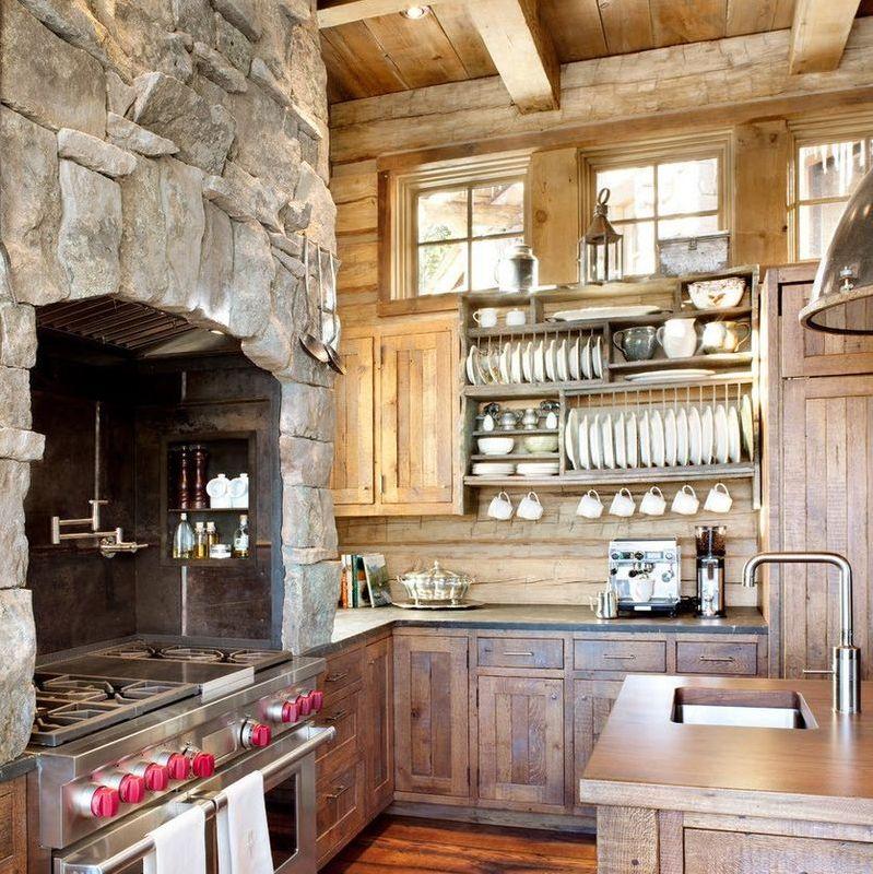 Дизайн кухни в частном доме стиль кантри