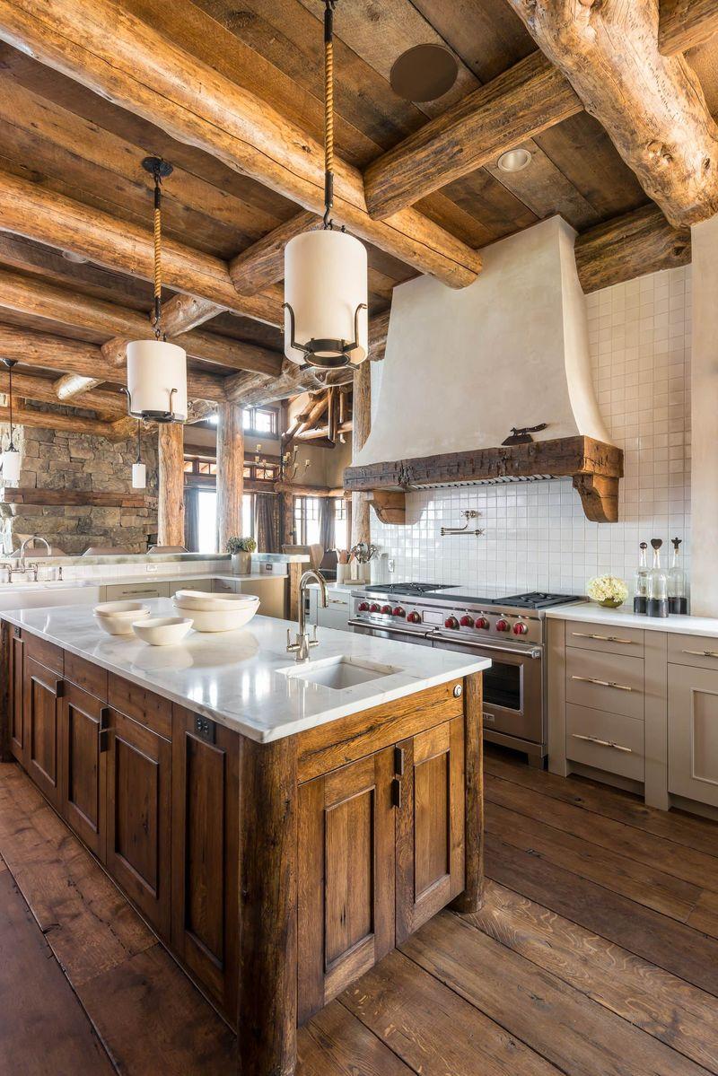 Дизайн кухни в частном доме стиль рустик
