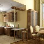 Дизайн кухни в частном доме зона готовки в классическом стиле