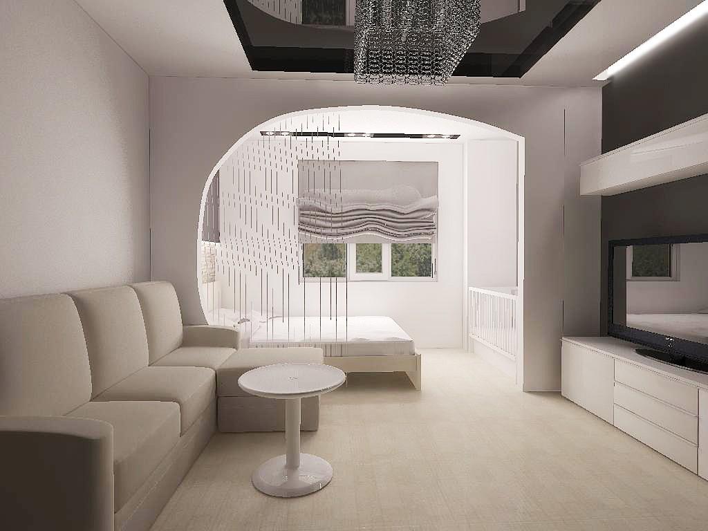дизайн спальни гостиной минимализм