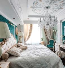 дизайн спальни с балконом