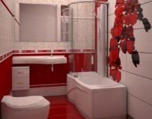 Дизайн ванной комнаты в хрущевке душевая в ванне