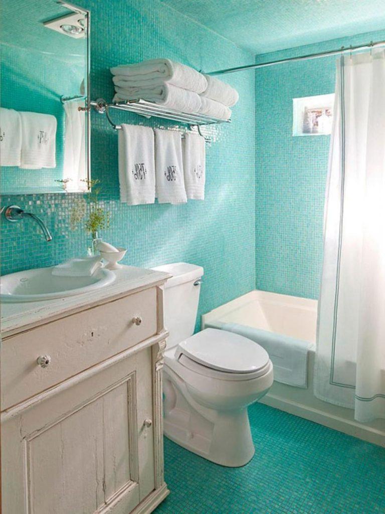 Дизайн ванной комнаты в хрущевке холодные тона