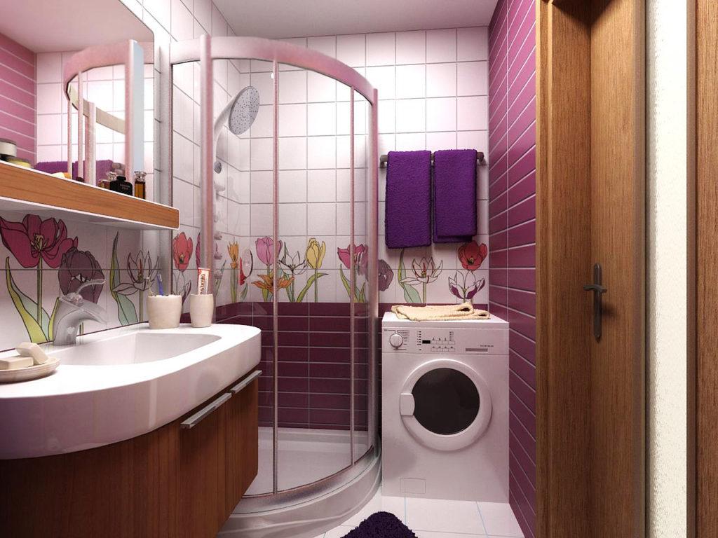 Дизайн ванной комнаты в хрущевке красиво и компактно