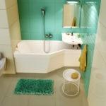 Дизайн ванной комнаты в хрущевке минималистский хай-тек