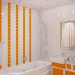 Дизайн ванной комнаты в хрущевке оранжевые акценты