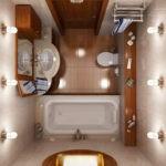 Дизайн ванной комнаты в хрущевке с короткой ванной