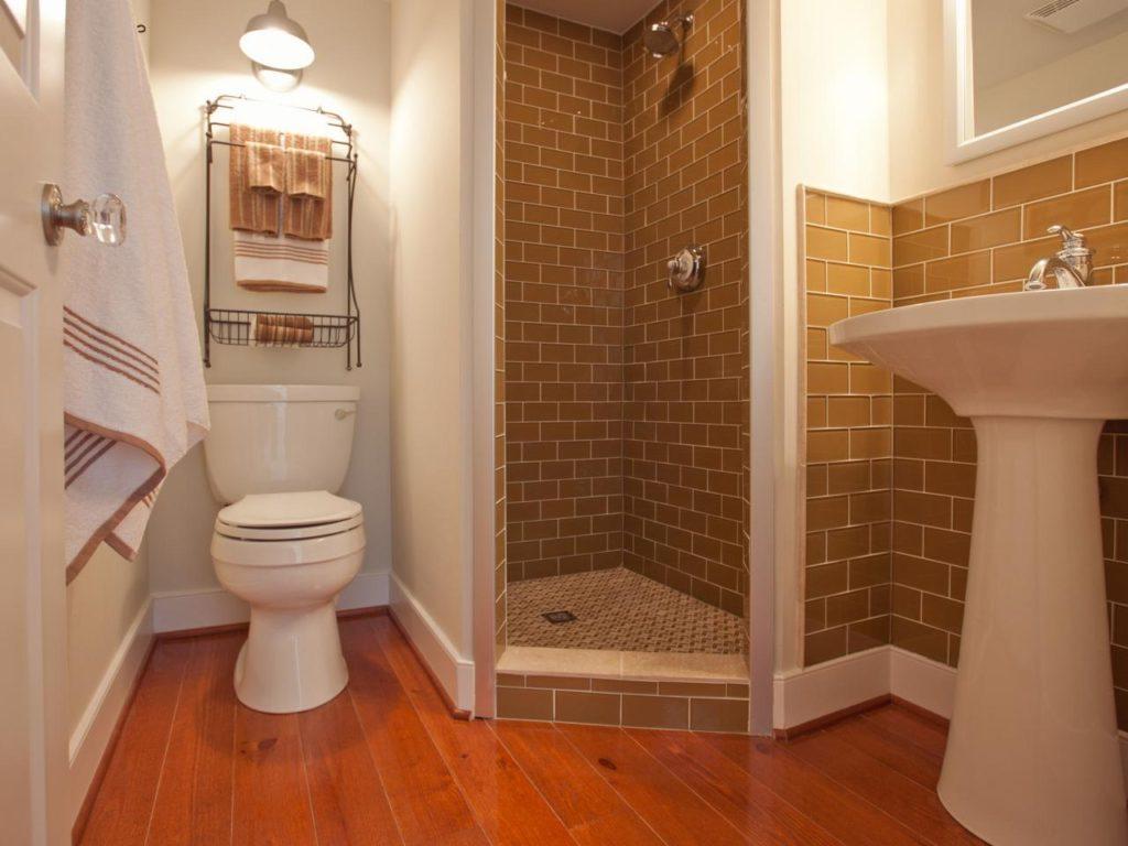 Дизайн ванной комнаты в хрущевке с отгороженной душевой