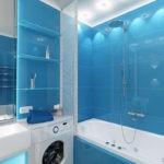 Дизайн ванной комнаты в хрущевке с ванной и флоп-машиной