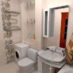 Дизайн ванной комнаты в хрущевке сантехника в один ряд