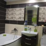 Дизайн ванной комнаты в хрущевке шкаф под раковиной