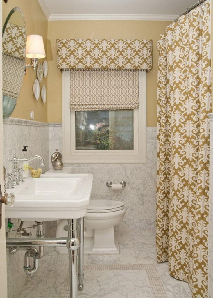 Дизайн ванной комнаты в хрущевке текстиль