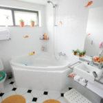 Дизайн ванной комнаты в хрущевке угловая ванная с душем