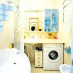 Дизайн ванной комнаты в хрущевке в бежевых тонах