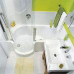 Дизайн ванной комнаты в хрущевке ванная с душевой